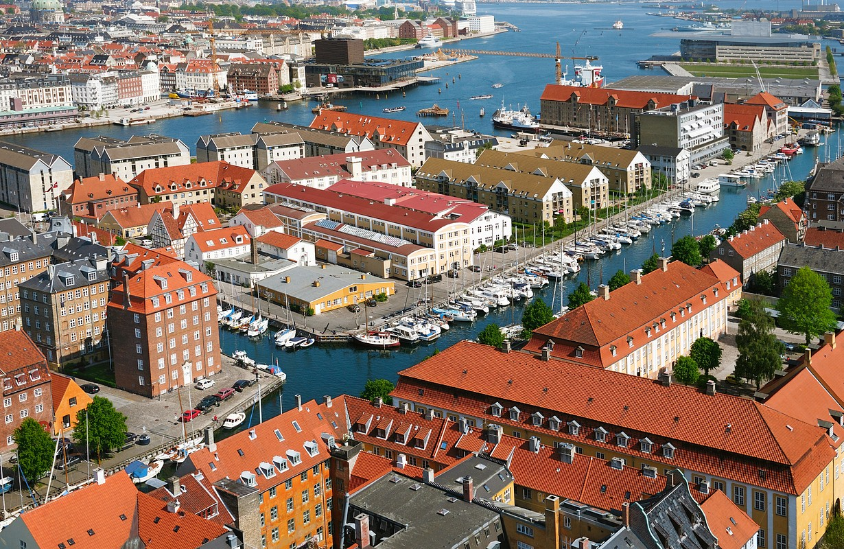 Panoramic view of Copenhagen. Denmark