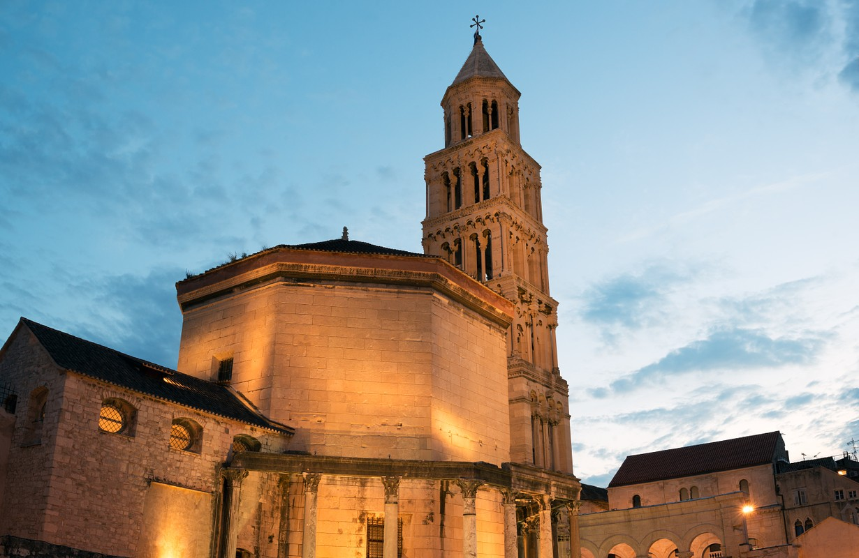 Cathedral of Saint Domnius in historic Split, Croatia