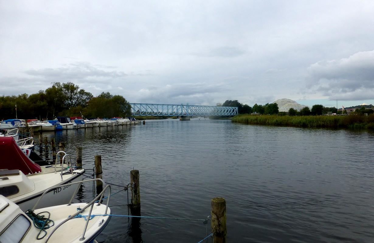 Gudenåen river in Randers, Denmark