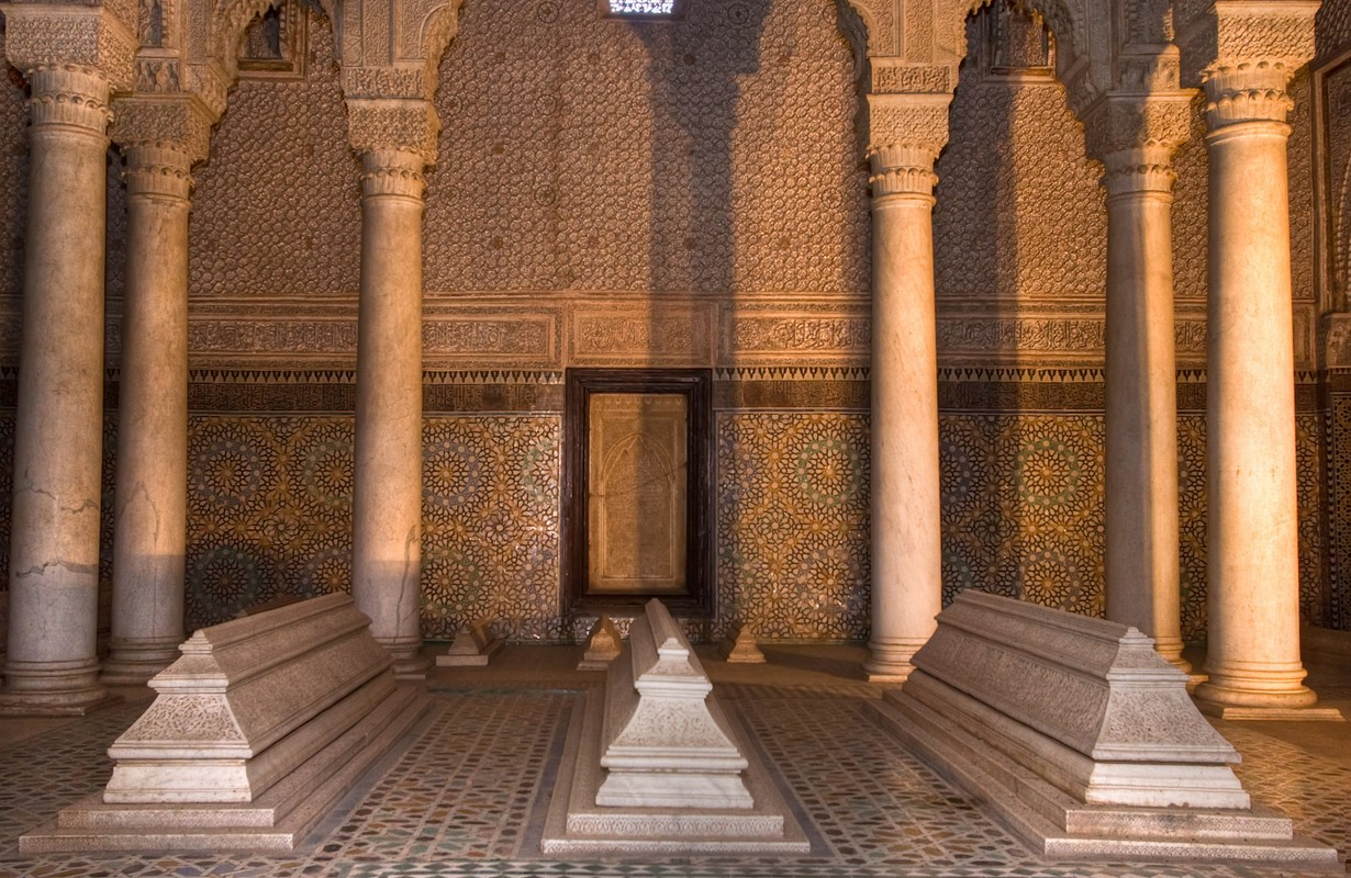 old saadians tombs and beautiful architecture, marrakesh, morocco