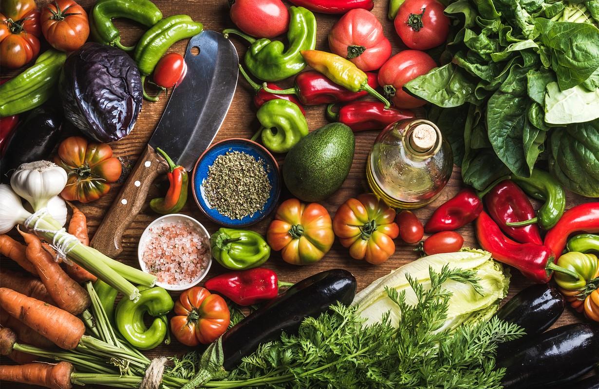 Fresh raw vegetable