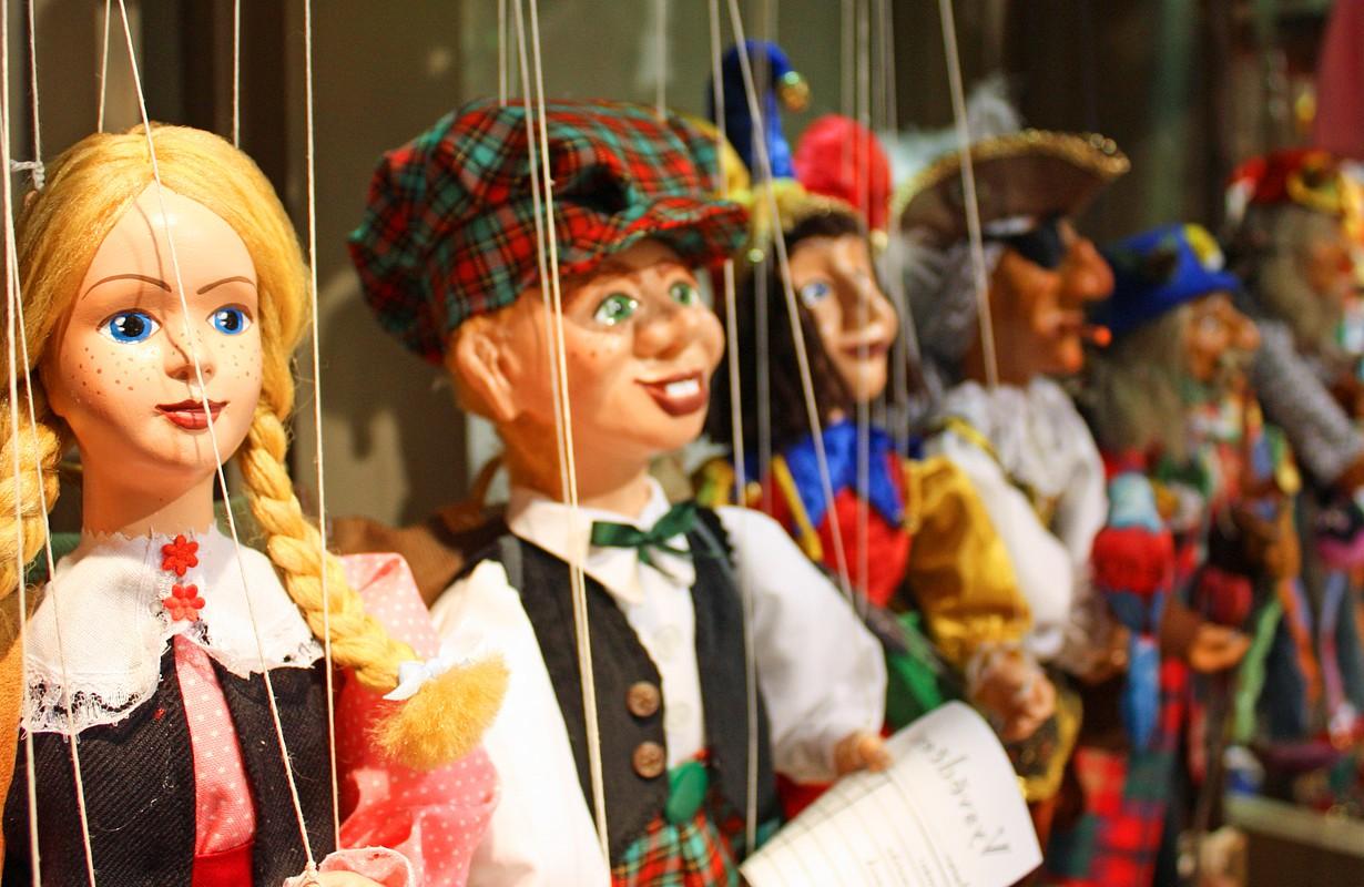 Puppet theatre in Puppet Museum in Pilsen, Czech Republic