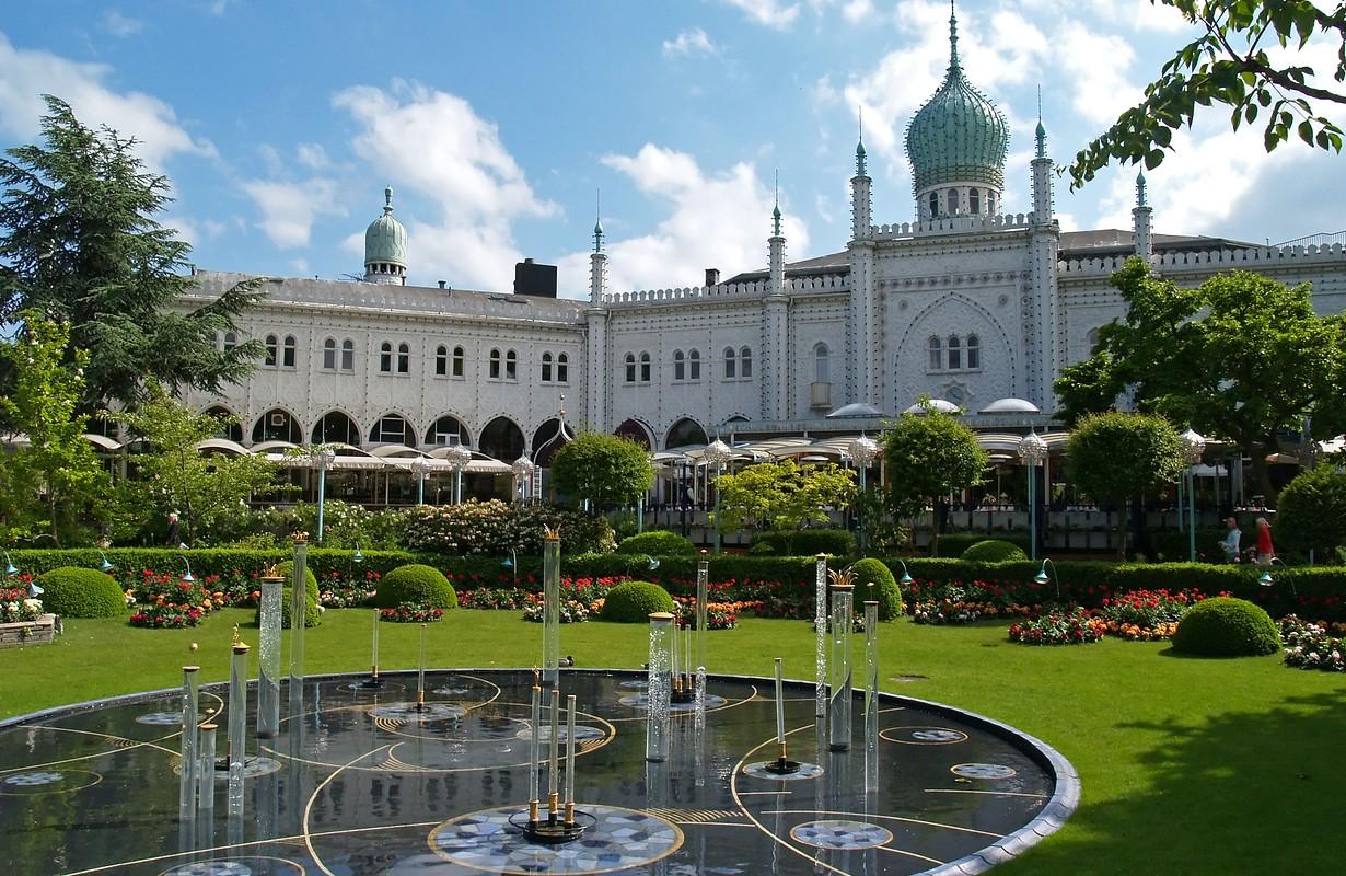 The famous Tivoli Garden in Copenhagen, Denmark