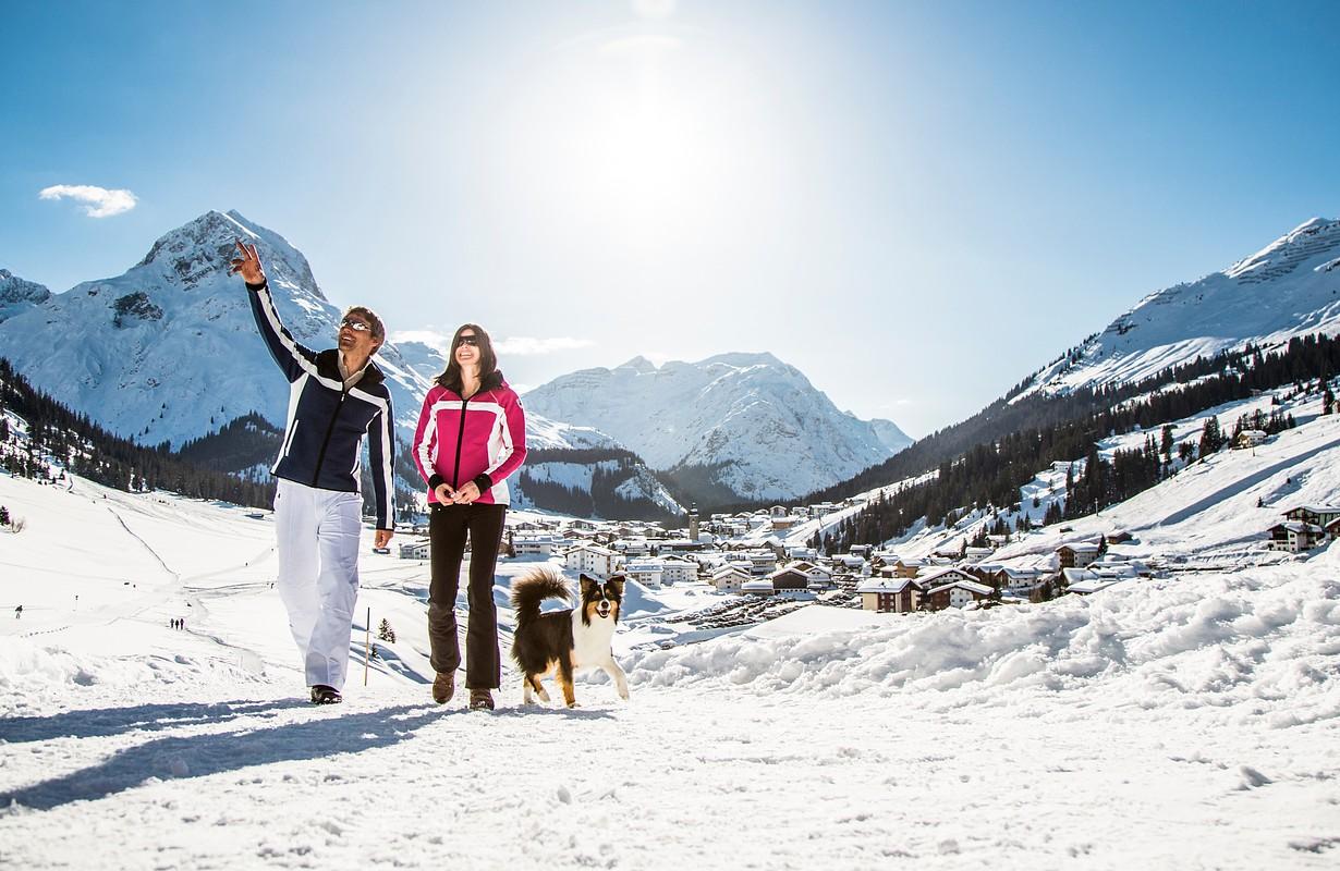 Winter hiking in Lech Zürs am Arlberg