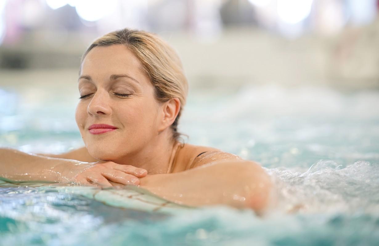 Woman at the thermal baths