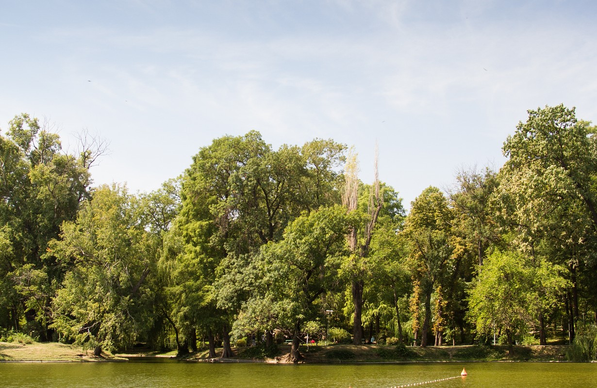 One of the largest parks in Bucharest, Romania