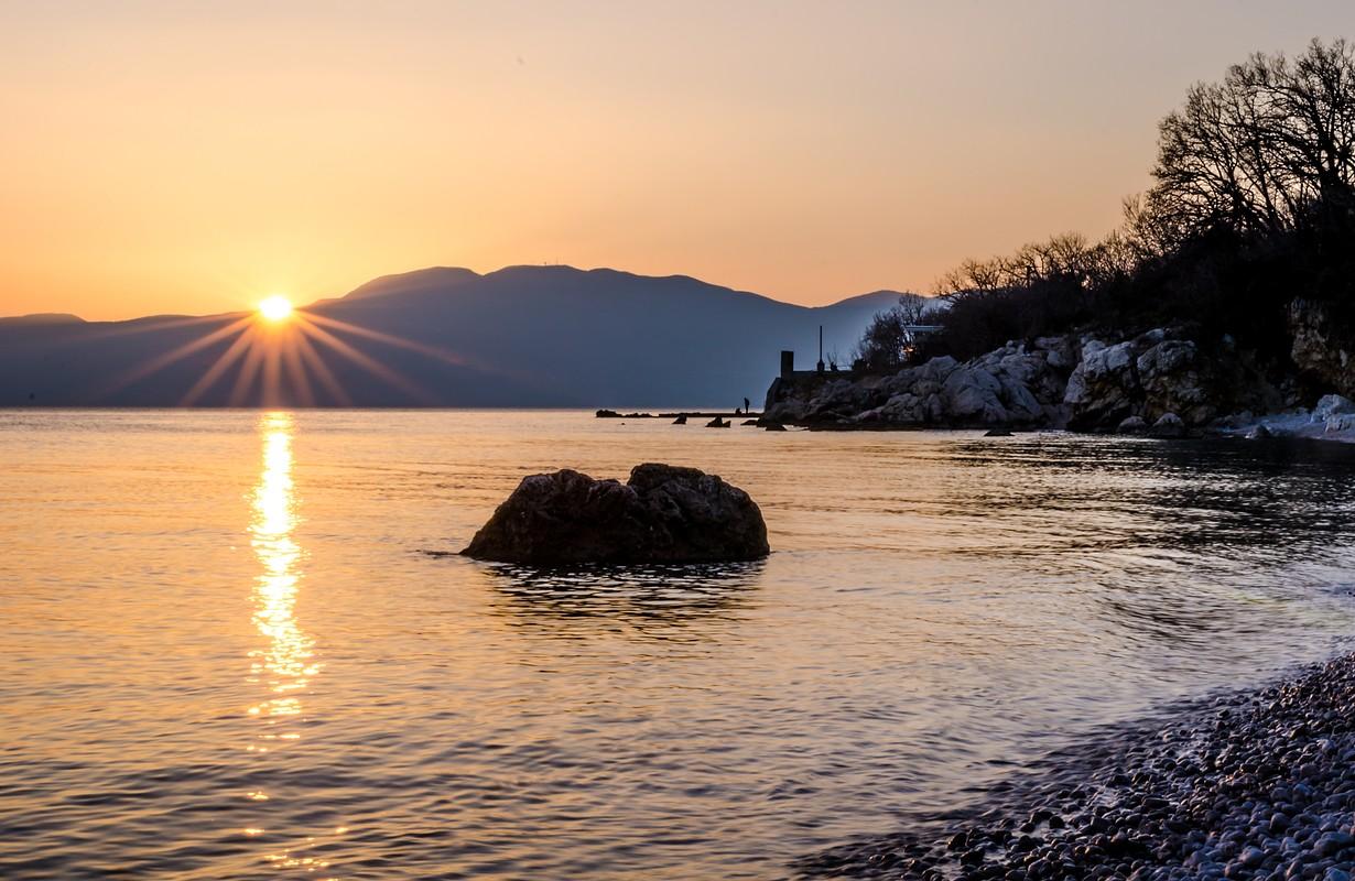 Beach Sunset in Rijeka