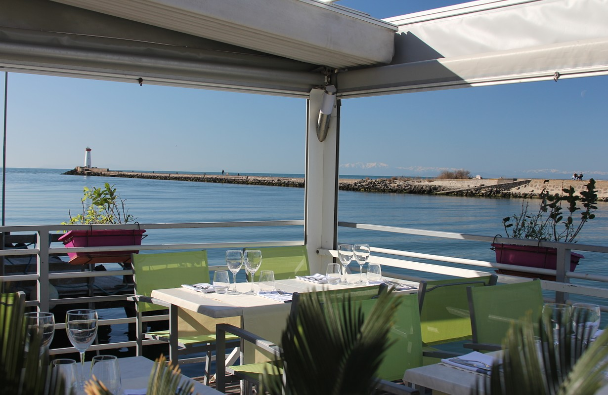 Cap d'Agde, restaurant l'Envie vue mer
