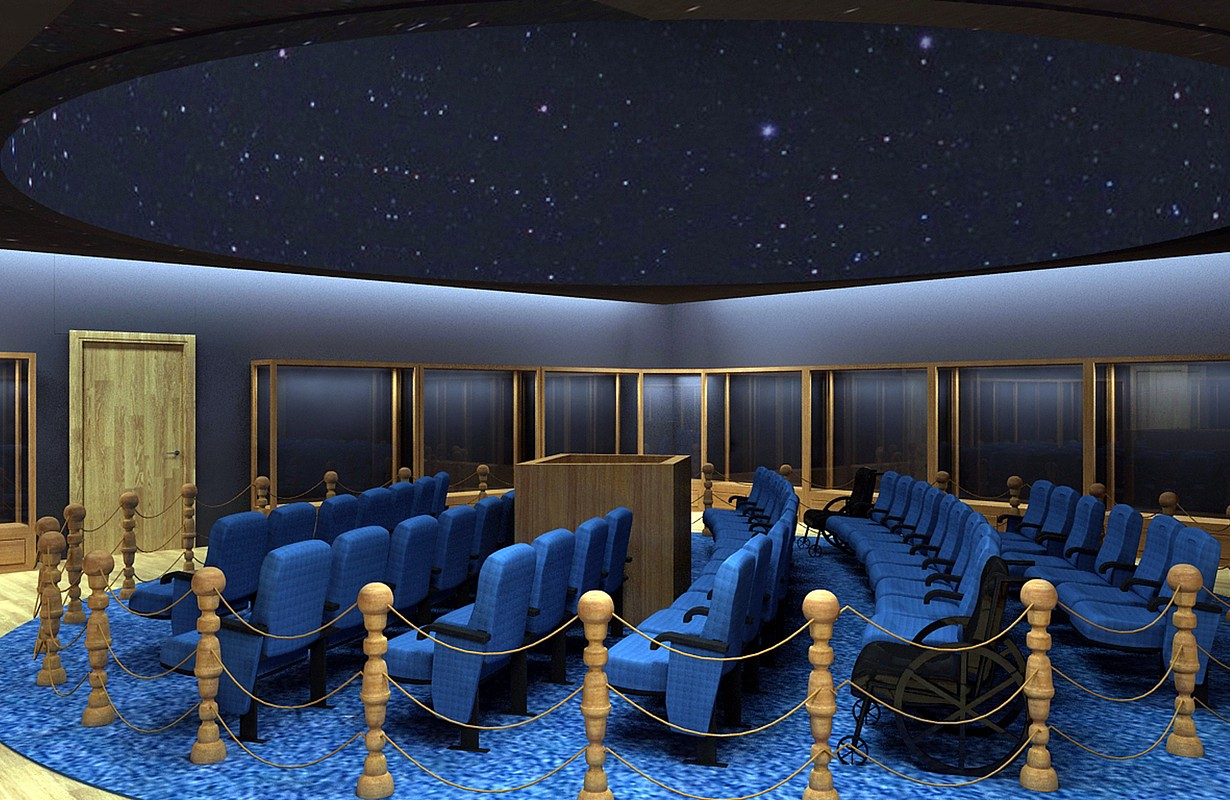 Projection hall of the Digital Planetarium