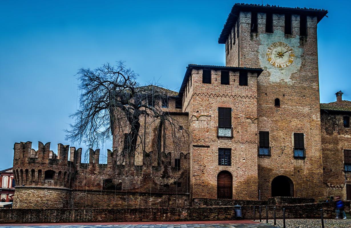 Medieval Rocca Sanvitale Castle in Fontanellato near Parma, Emilia-Romagna, Italy.