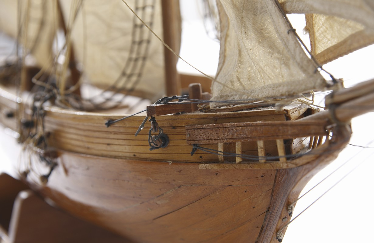 An Image of Sailing Ship Model