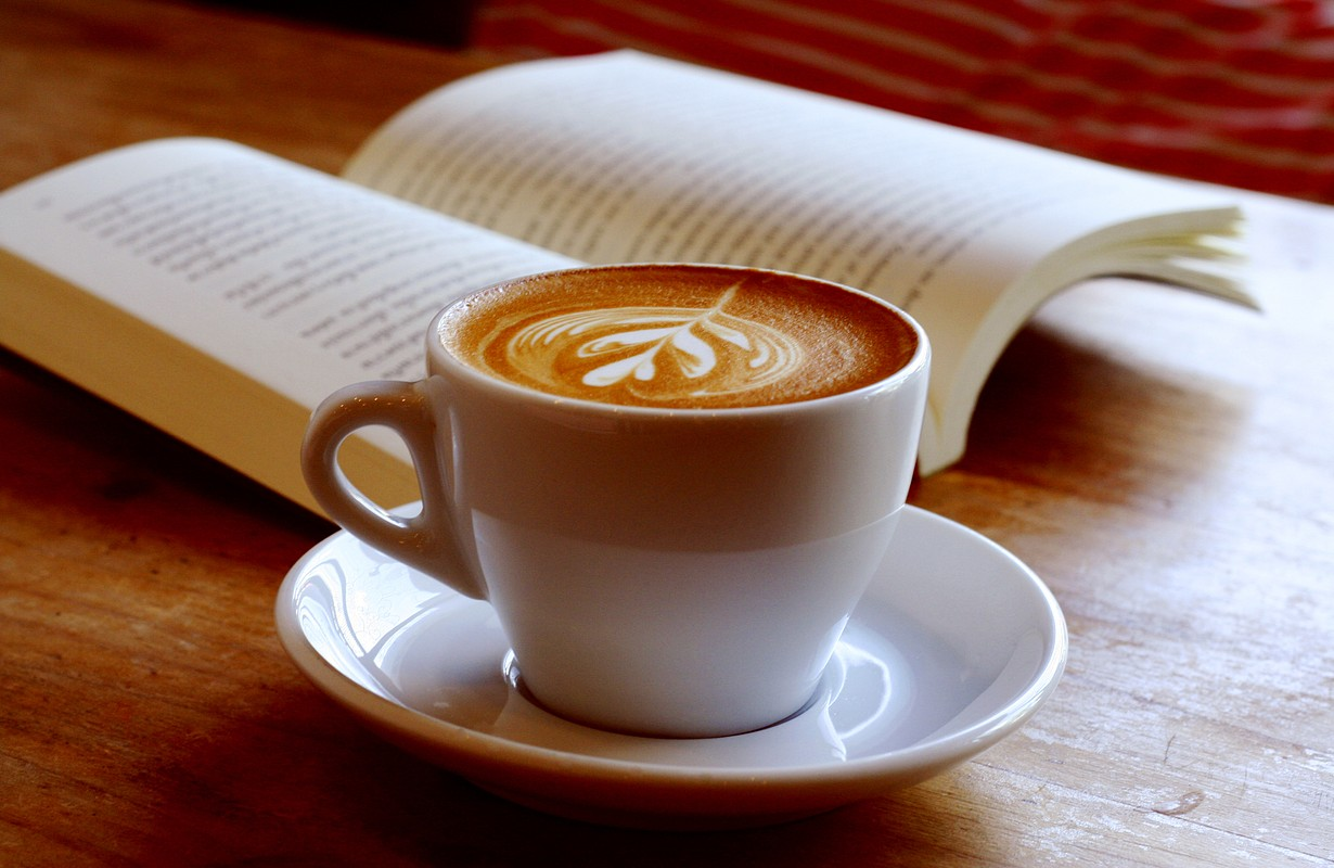 coffee with book