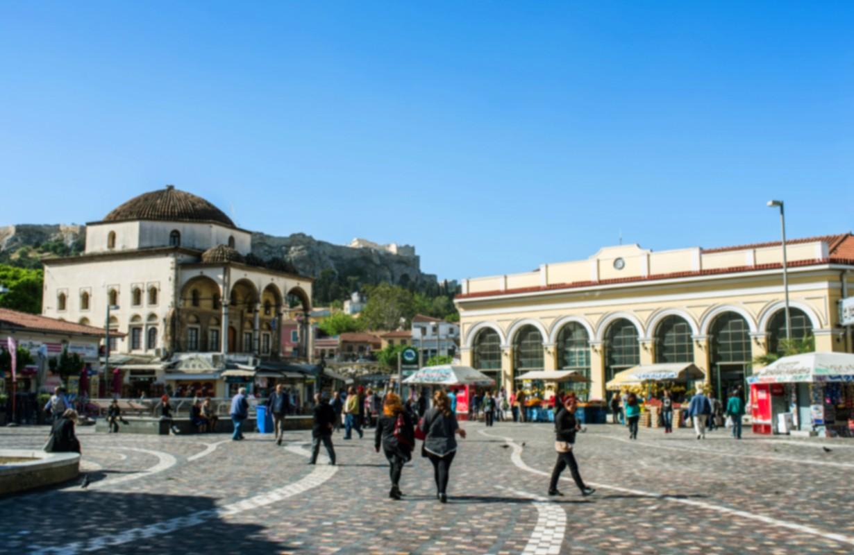 View of Monastiraki square, Athens