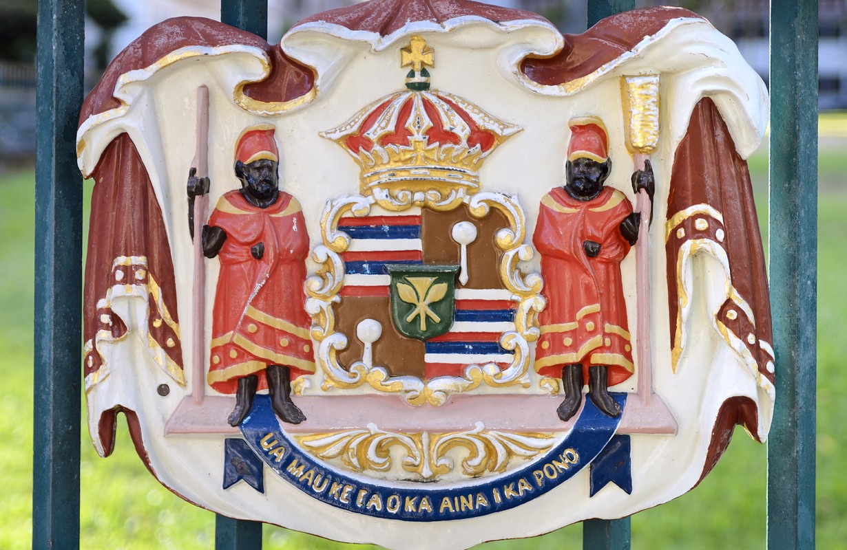 Historic Royal Seal at Iolani Palace - Honolulu, Hawaii