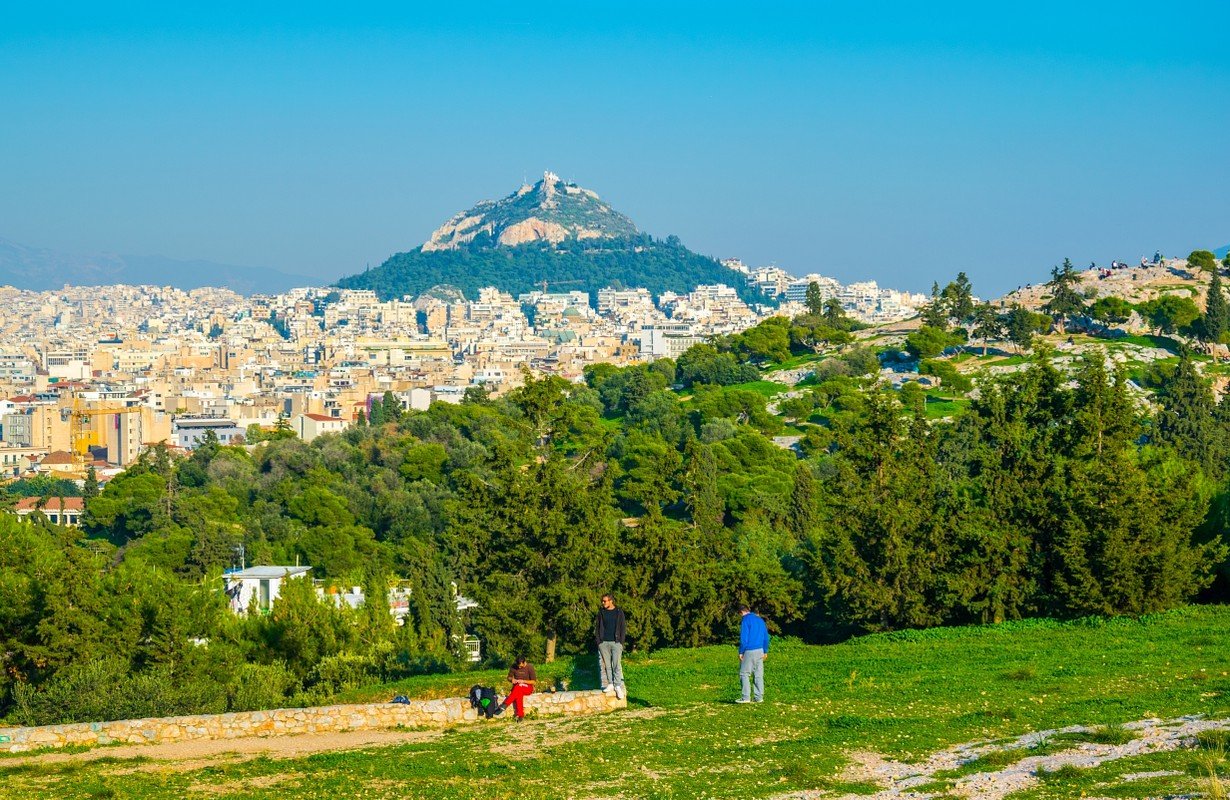 View of the Lycabettus Hill in Athens