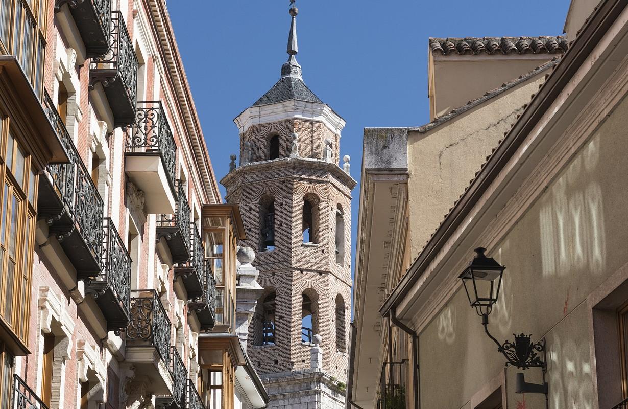 Valladolid (Castilla y Leon, Spain): historic buildings with typical balconies and verandas