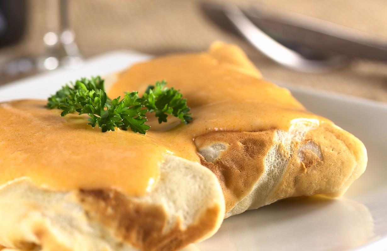 hungarian meat filled pancake