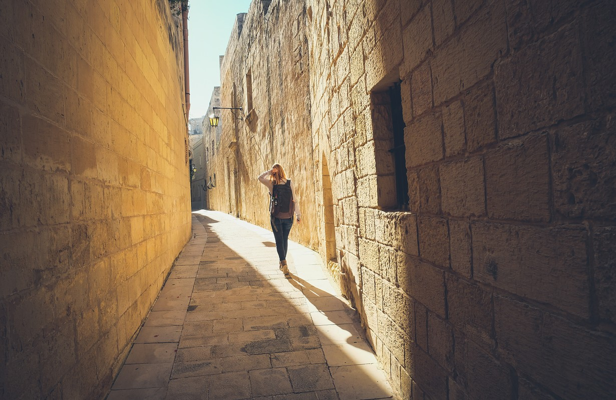 Woman in old Mdina