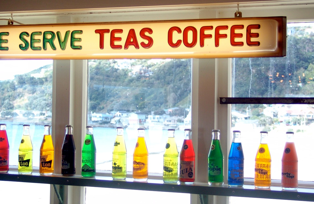 Inside the Maranui Cafe, Wellington