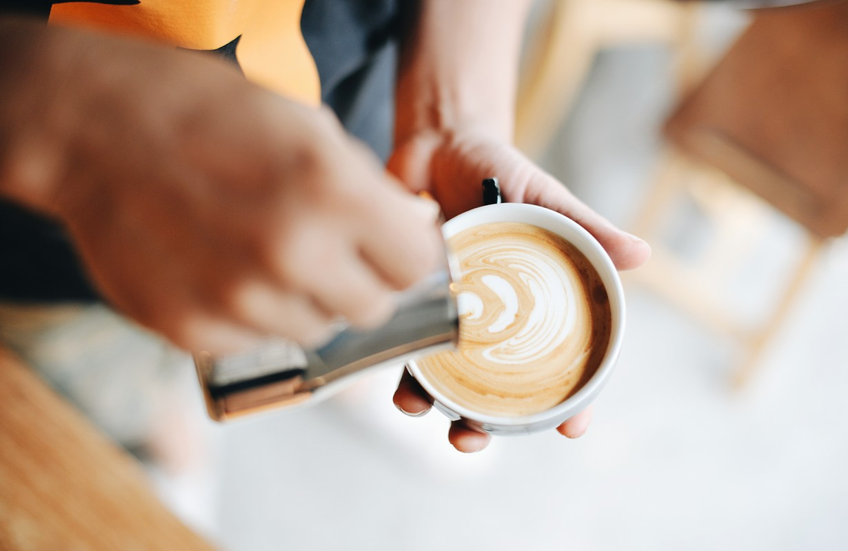Coffee made by barista