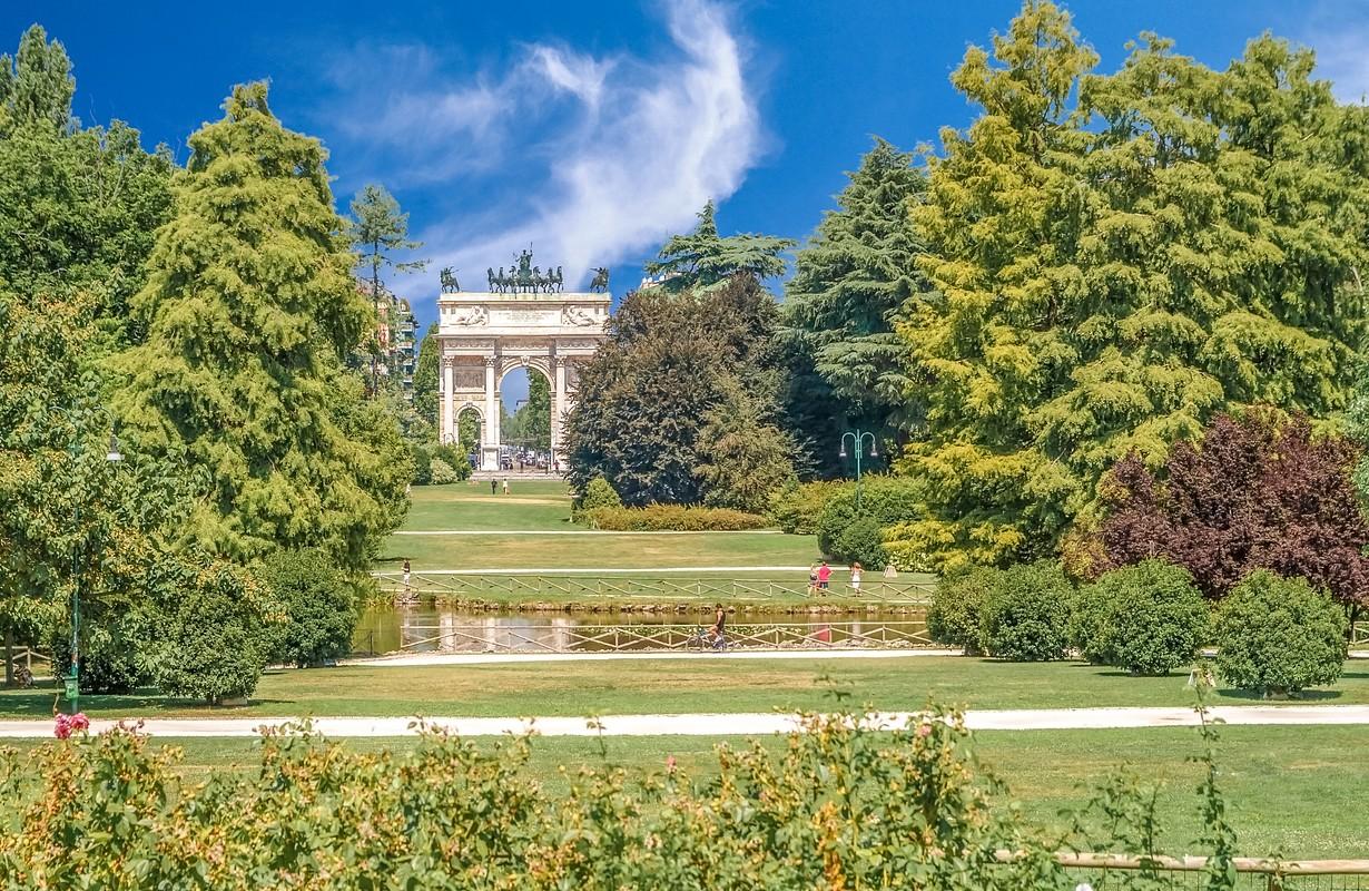 Porta Sempione from Sempione Park