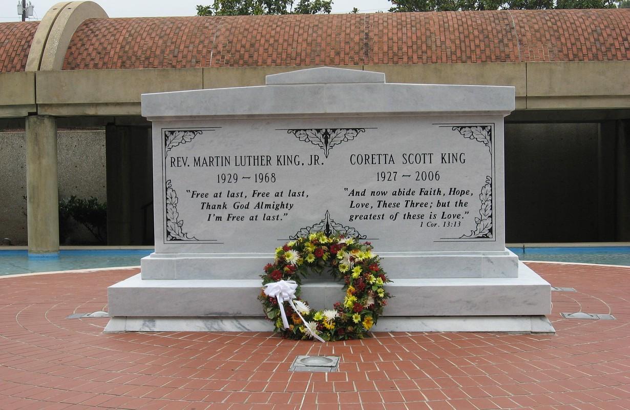 Tombstone for Martin Luther King & Coretta Scott King - Atlanta, Georgia