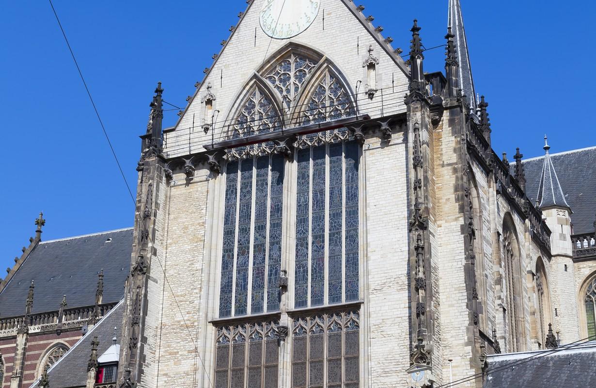 New church nieuwe kerk on Dam square, Amsterdam, Holland.