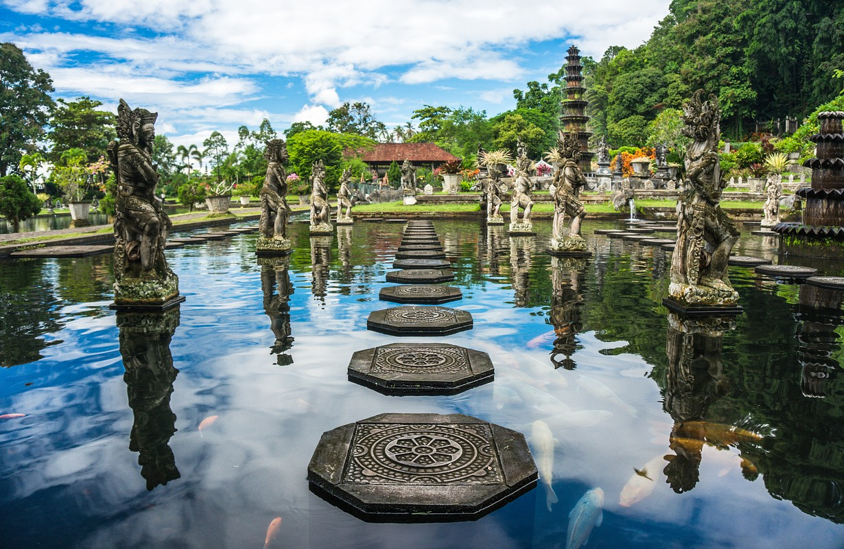 Water Palace of Tirta Gangga in East Bali, Karangasem, Indonesia