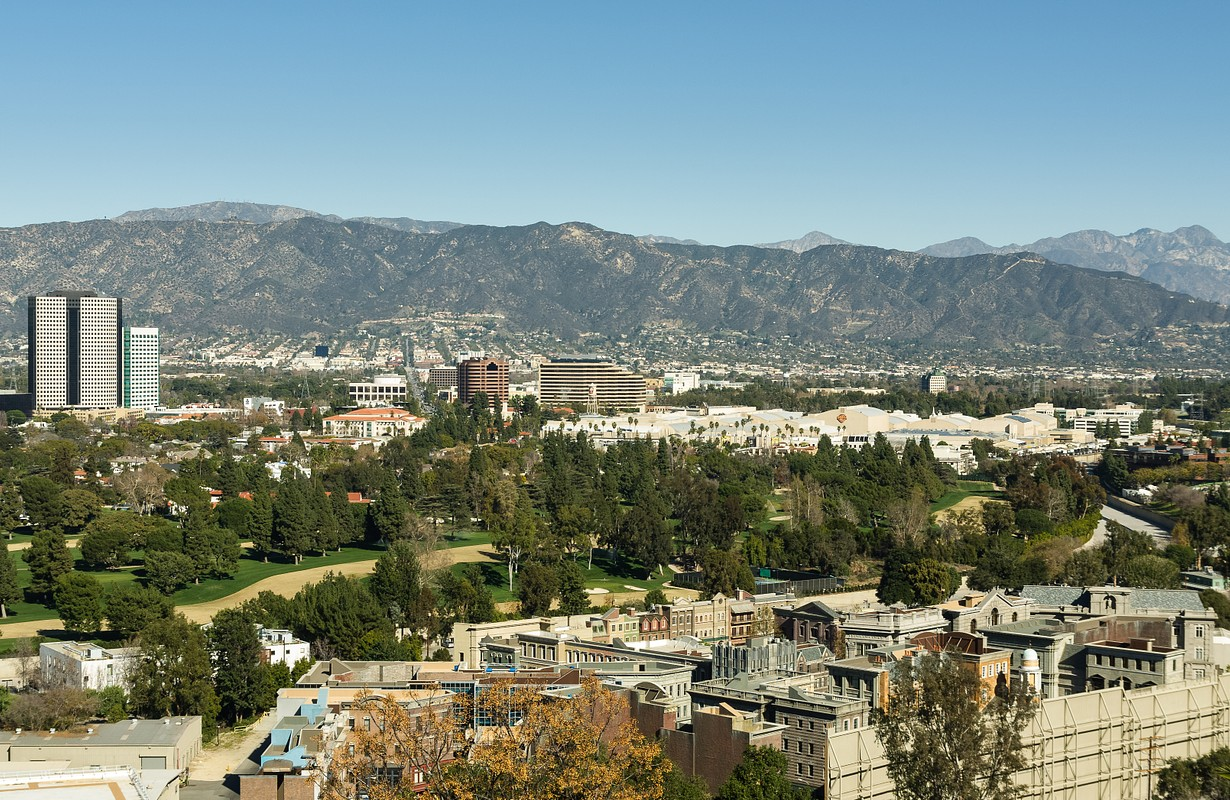 Panoramic View of Universal City, Hollywood
