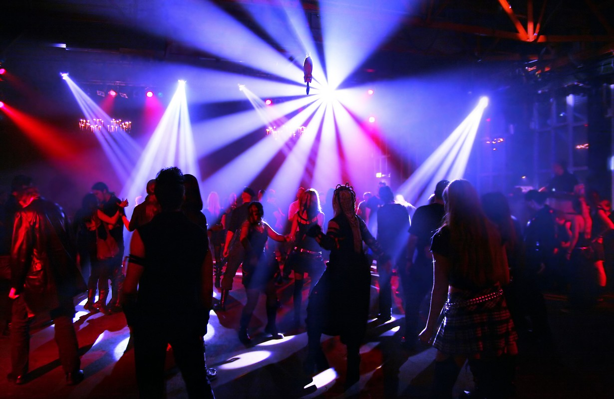 Dancing people in a club