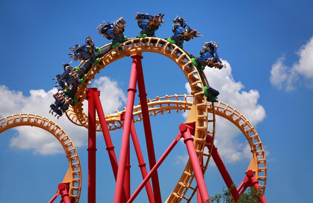 Roller coaster at Djurs Sommerland in Randers, Denmark