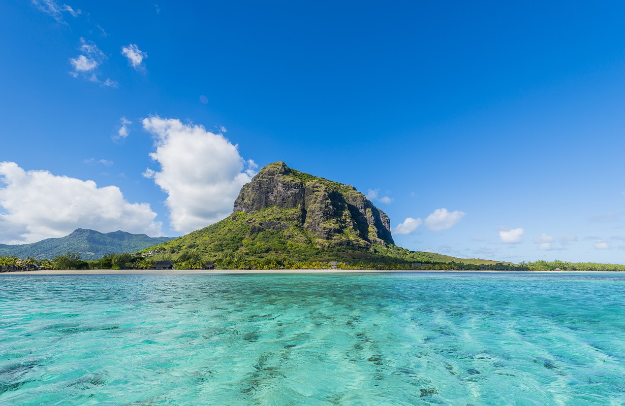 The balsatic mountain at the peninsula Le Morne Brabant