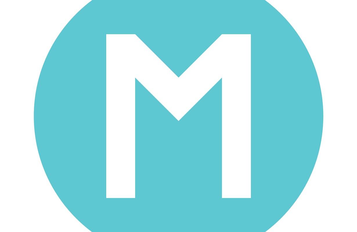 Blue M Metro Sign