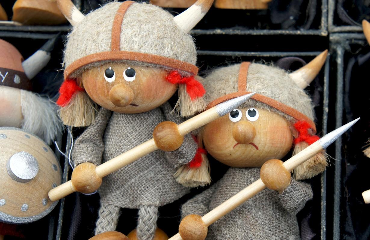 Funny vikings. Norwegian souvenirs
