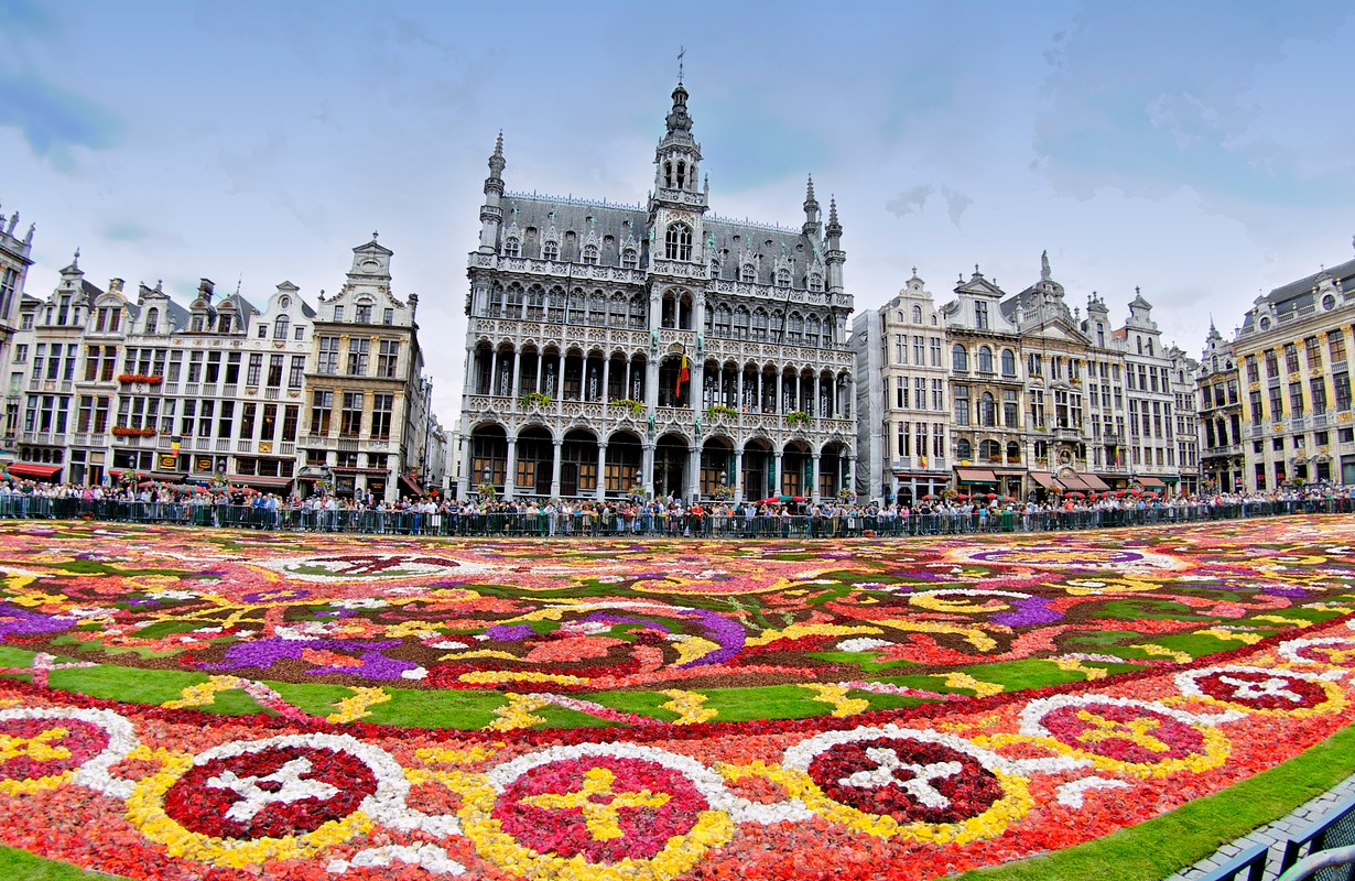 The Brussels Flower Carpet, a major event on the Grand Place, Brussels