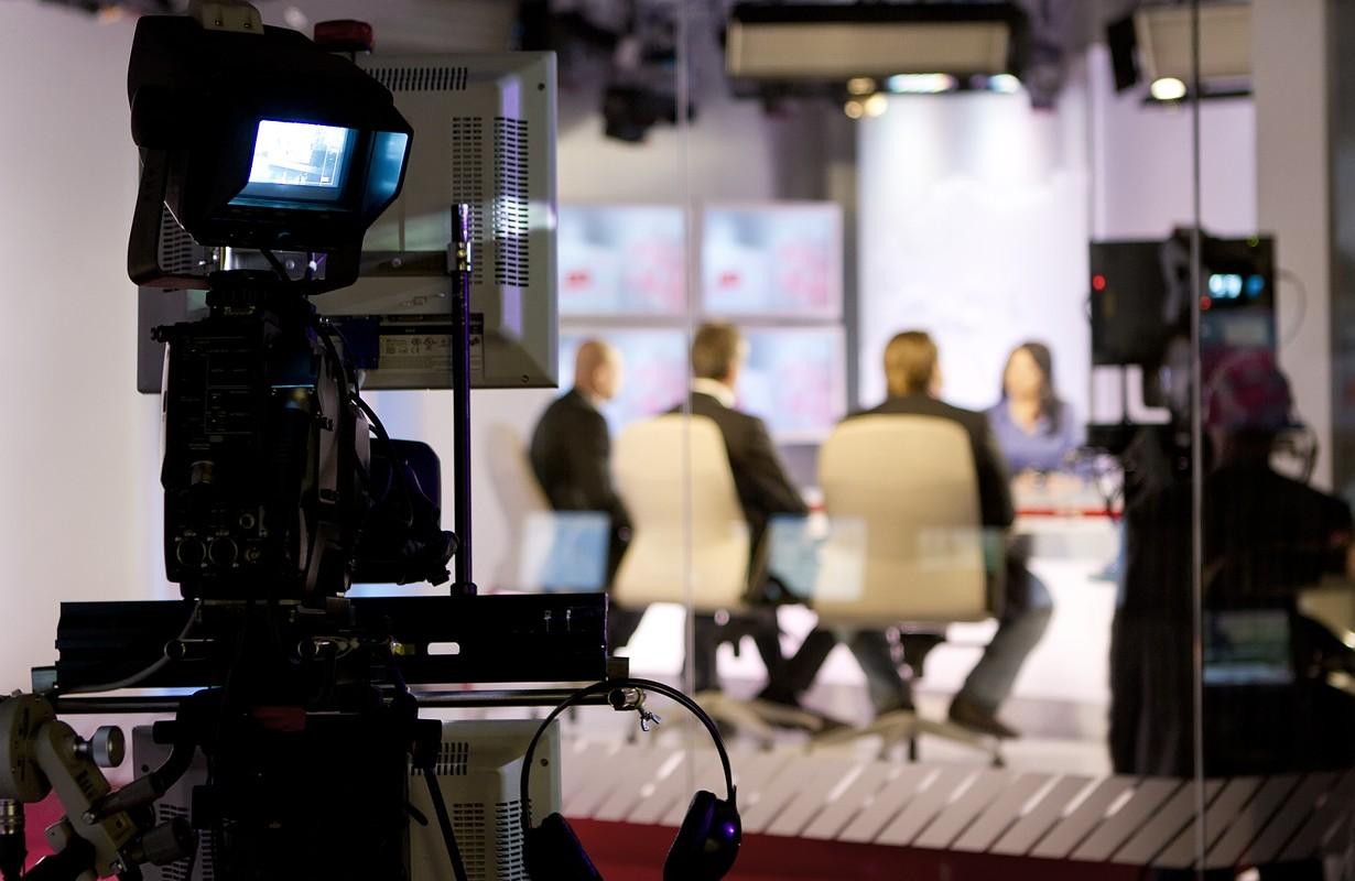 Recording a live talk show at a television studio - Atlanta, Georgia