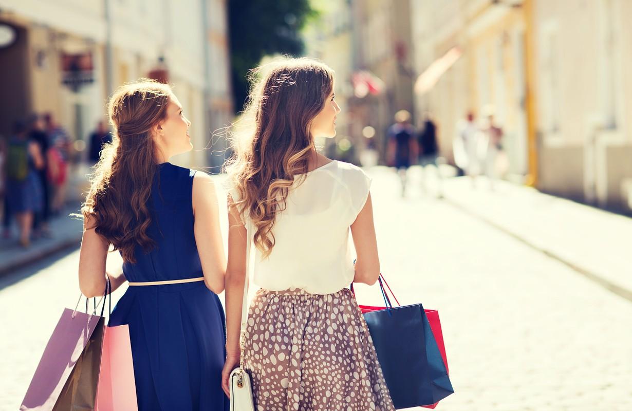 Girls doing some shopping