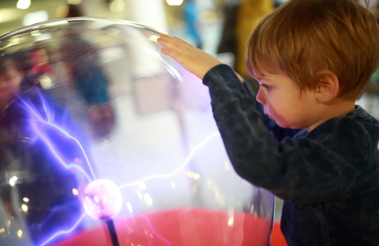 Little kid at a science museum - San Francisco, California