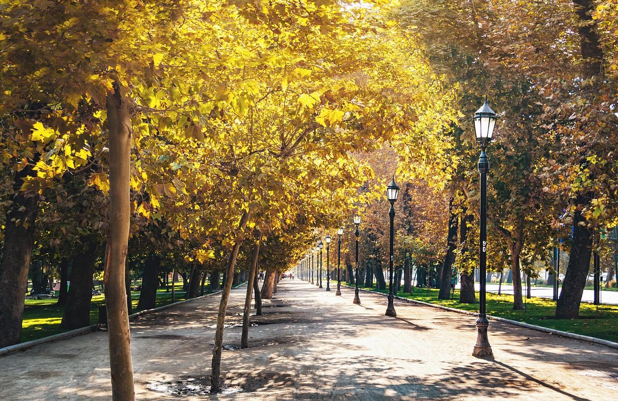 Forestal Park in downtown Santiago - Santiago, Chile - Image
