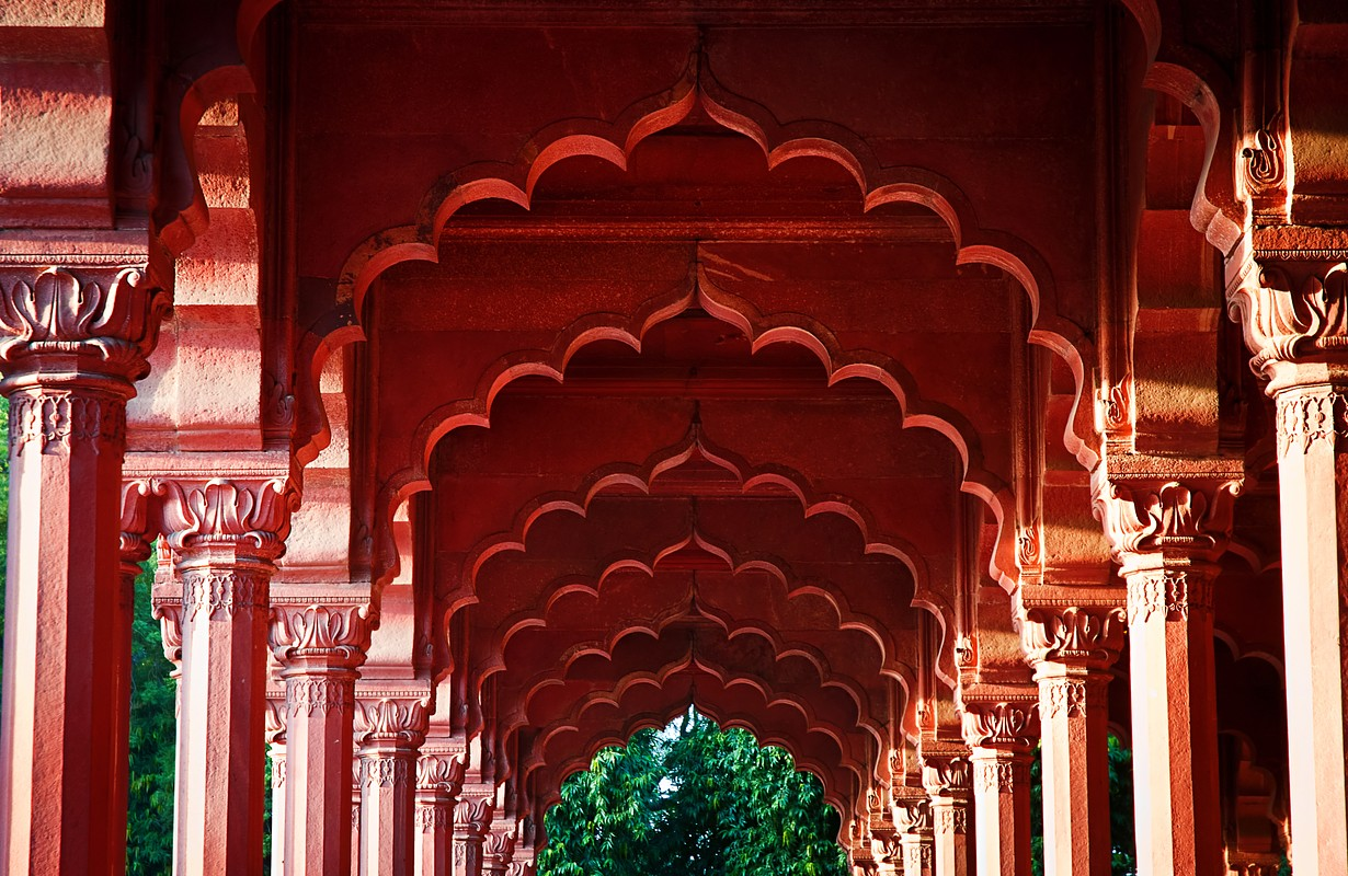 Arcade at the Red Fort, Delhi, India