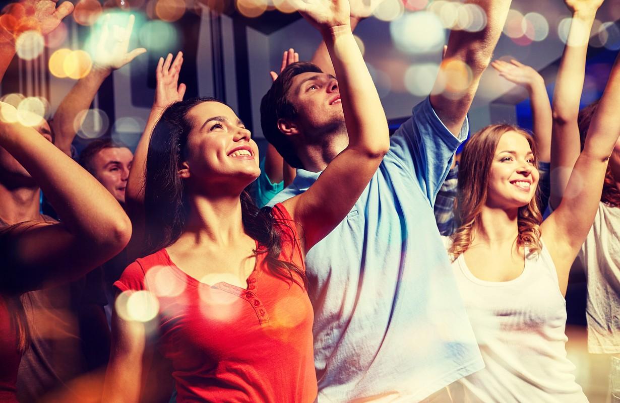 People dancing at a night club - Los Angeles, California