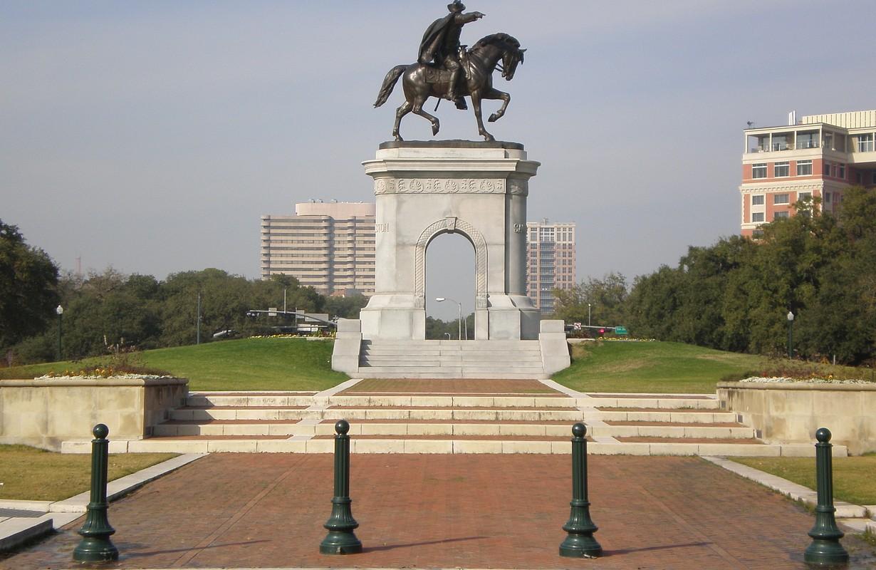 Sam Houston statue at Hermann Park - Houston, Texas, USA