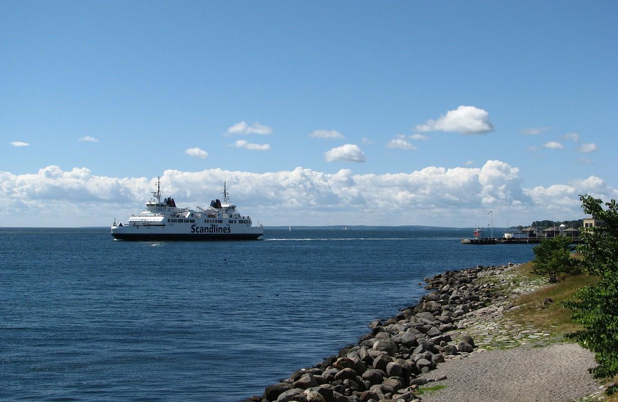Ferry of Fjords Færgefart in Randers, Denmark