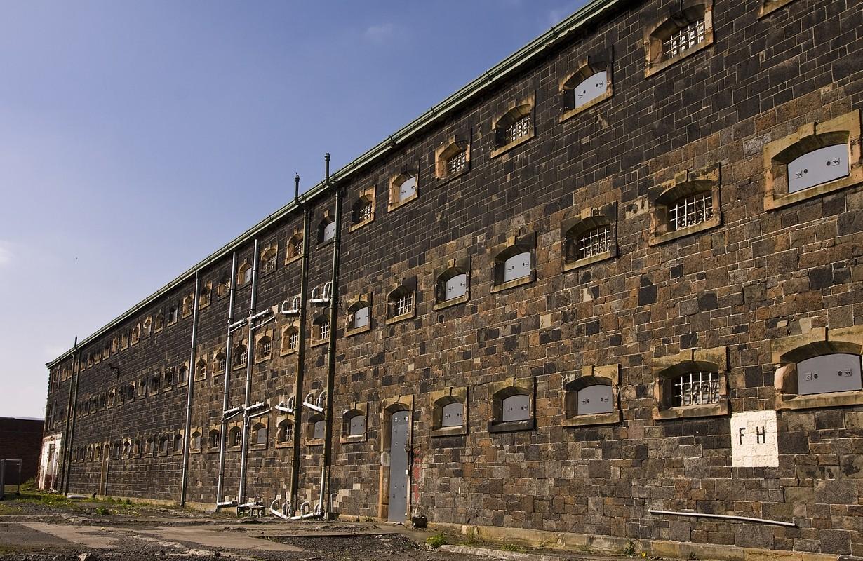 Prison wing at Crumlin Road jail in Belfast Northern Ireland