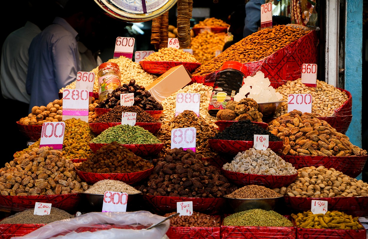 Dry Fruits Market, Chandni Chowk, Old Delhi, India
