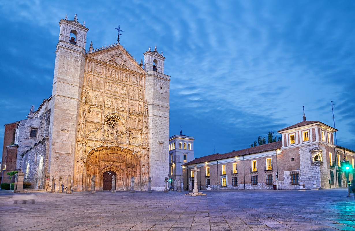 San Pablo Church on Plaza de San Pablo in Valladolid, Spain