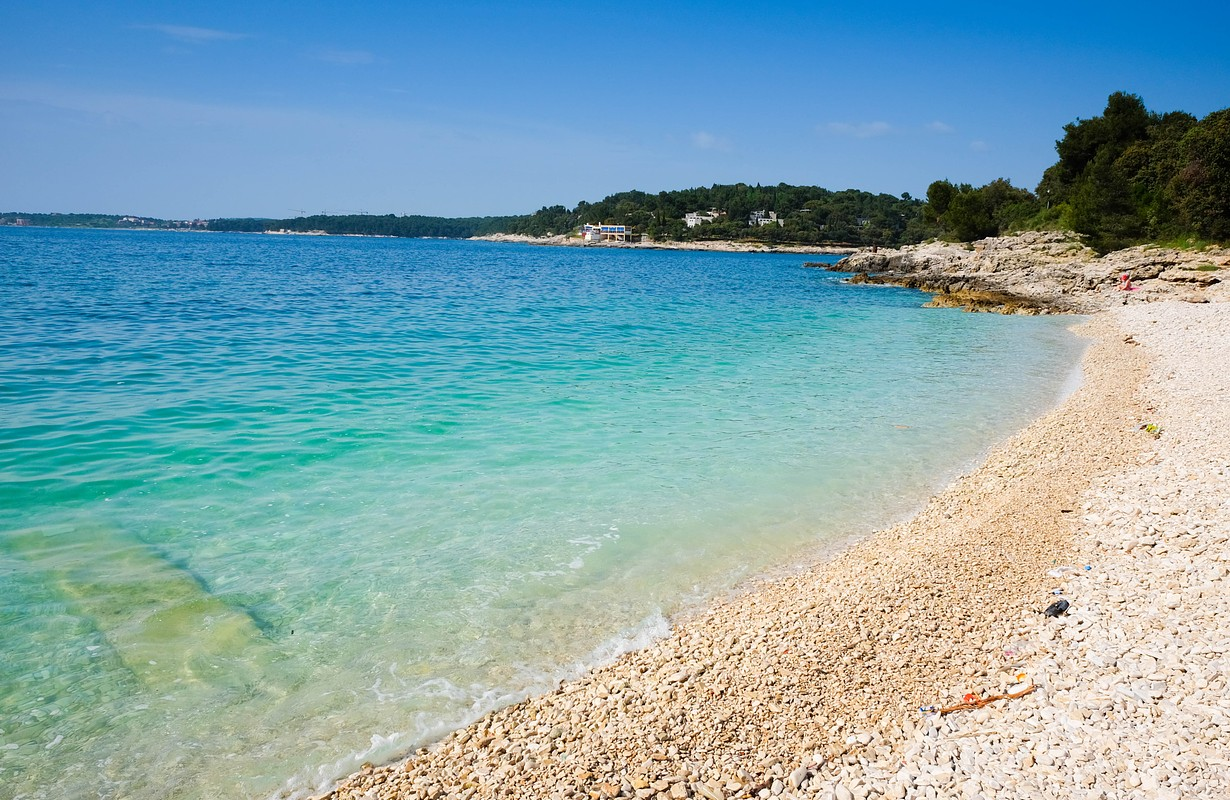Turquoise water on the beach in Croatia
