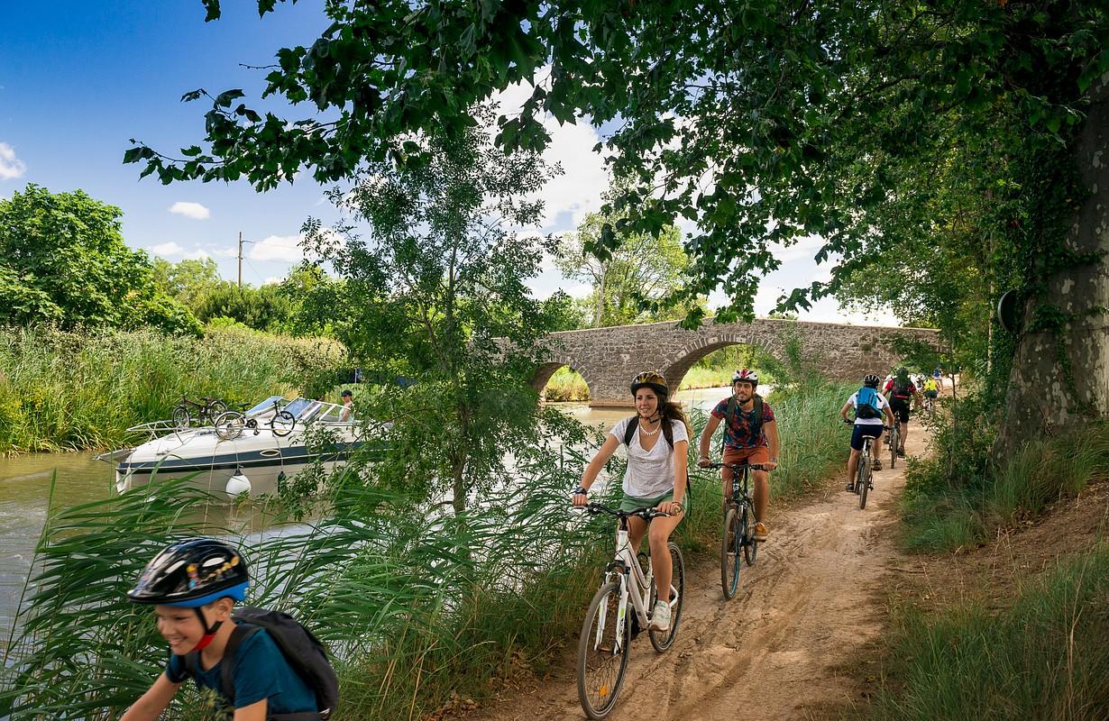 Bike trail near the Canal du Midi
