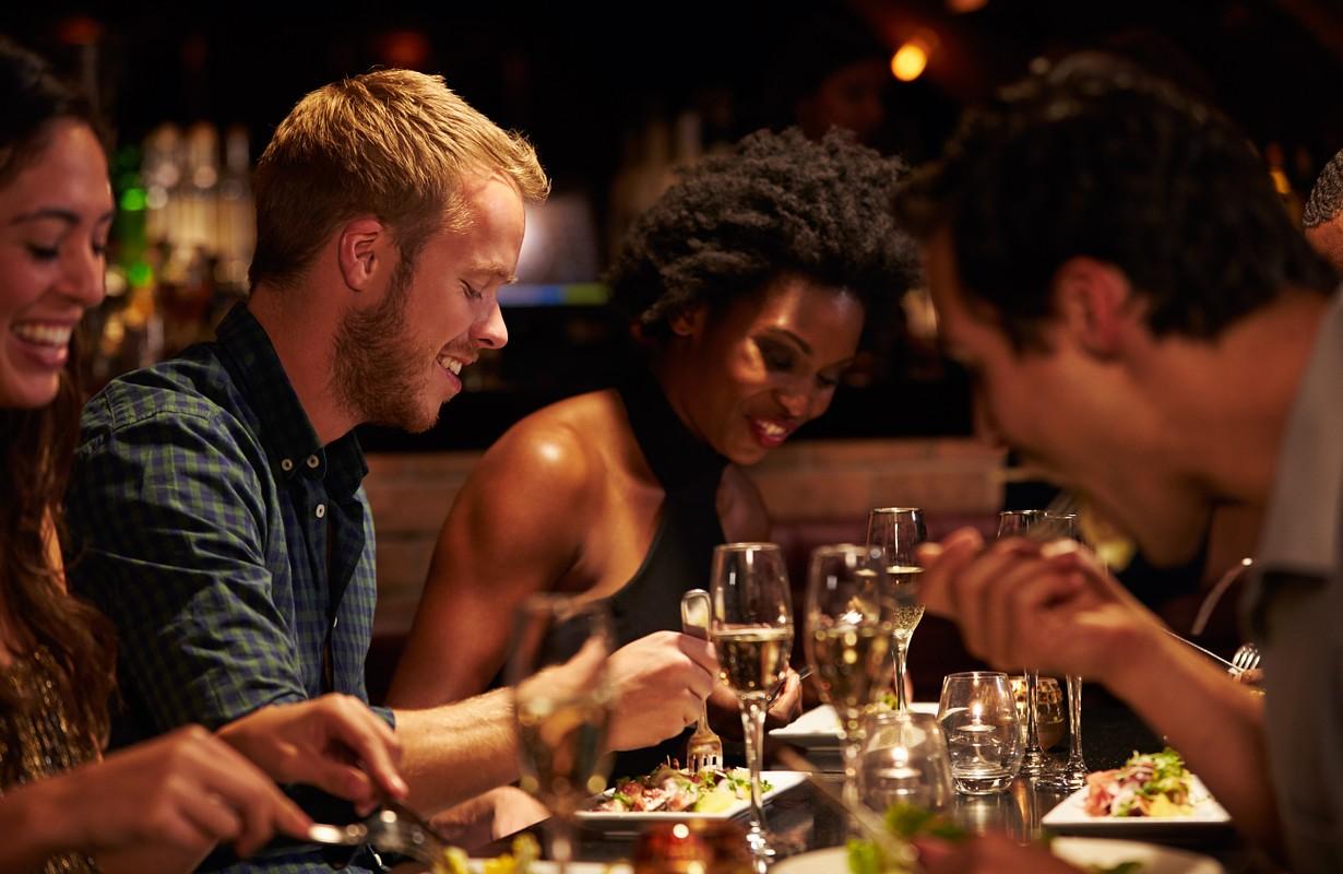 Friends at a restaurant - Florida