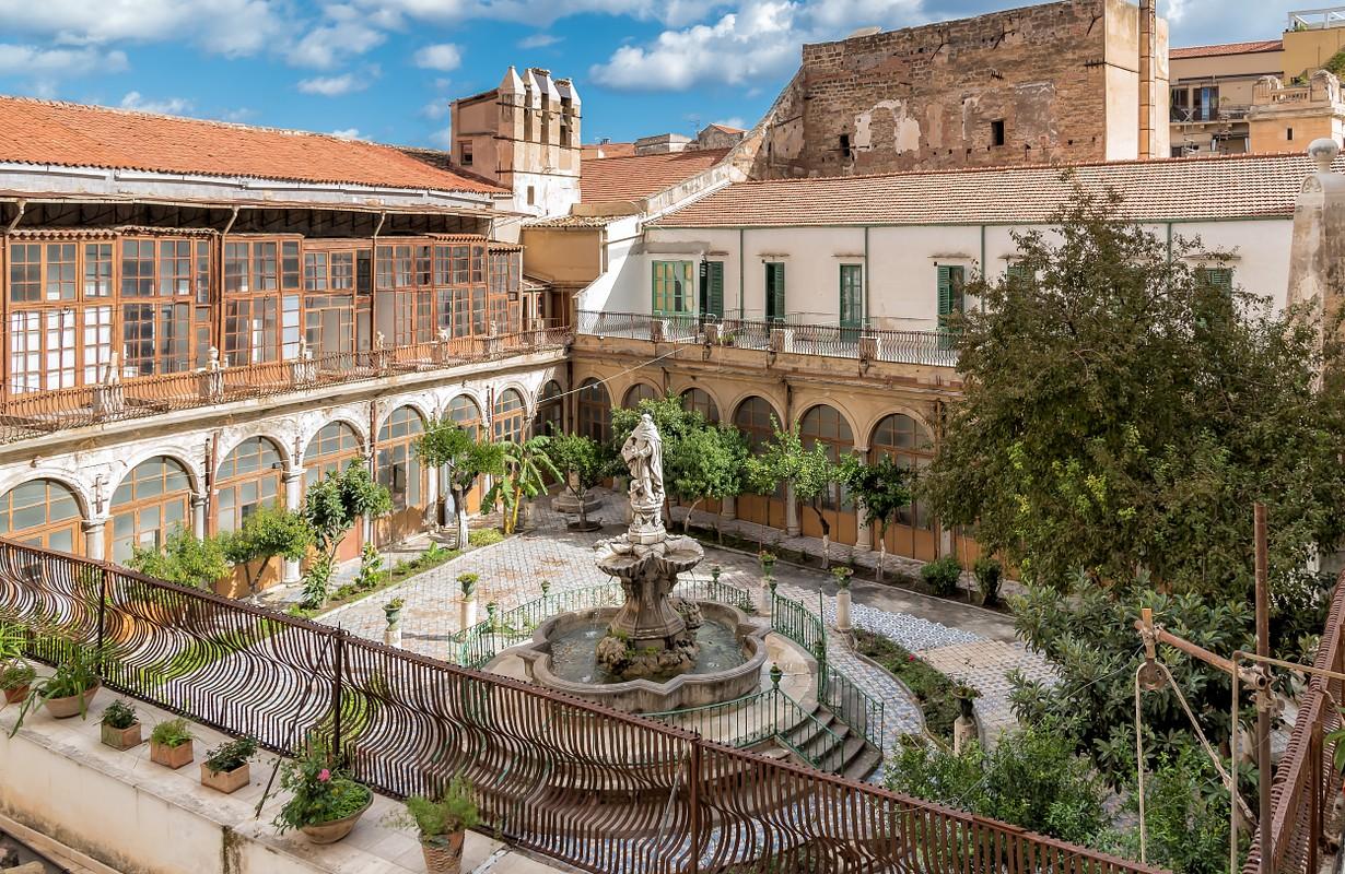 Majolica cloister of Santa Caterina in Palermo